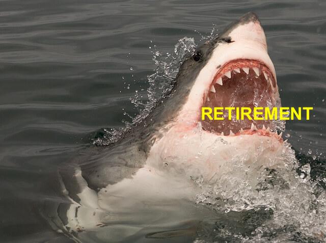 average retirement debt