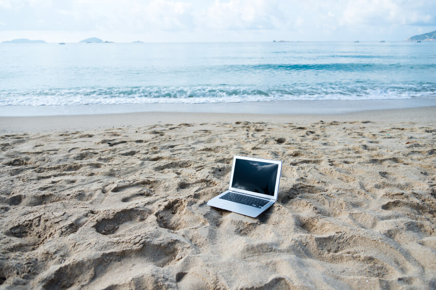 When you work online, you can be anywhere...